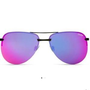 Quay pink reflective aviators